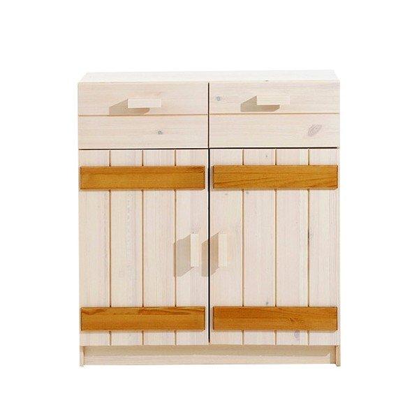 Infans Kommode 805 mit Türen in weiß/gelaugt