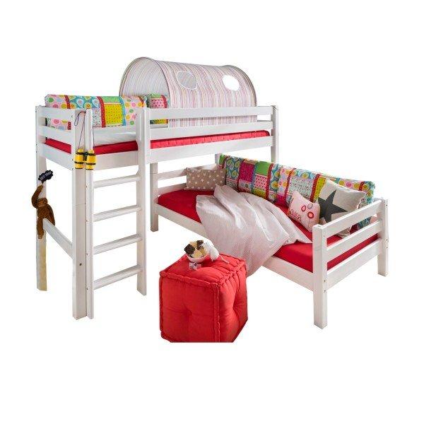 Das Infans Etagenbett 604 kann auch über Eck aufgestellt werden...