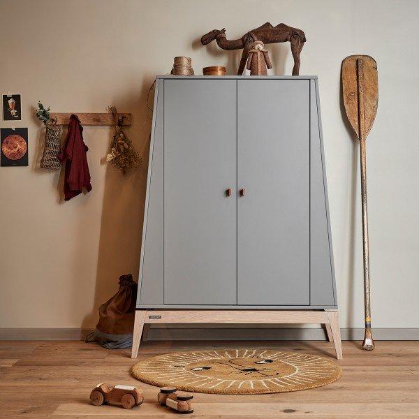 Luna™ Kleiderschrank, klein in grau / Eiche