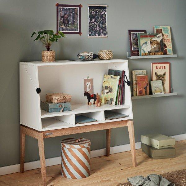 Luna™ Schreibtisch, in weiß / Eiche