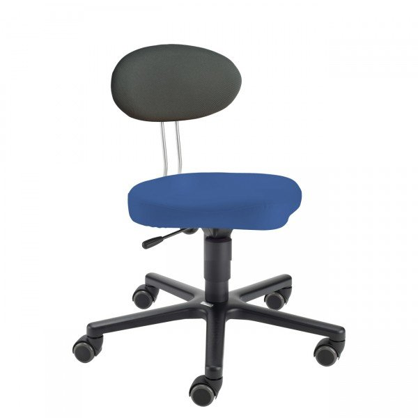 LeitnerTwist Kinderstuhl/ Erzieherinnenstuhl Kiga blau mit Sattelsitz