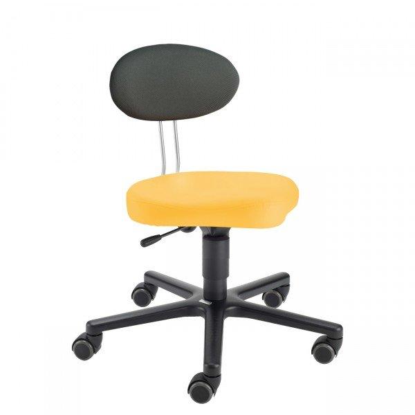 LeitnerTwist Kinderstuhl/ Erzieherinnenstuhl Kiga gelb mit Sattelsitz