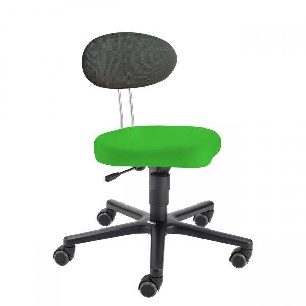 LeitnerTwist Kinderstuhl/ Erzieherinnenstuhl Kiga grün mit Sattelsitz