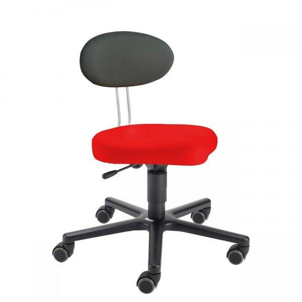 LeitnerTwist Kinderstuhl/ Erzieherinnenstuhl Kiga rot mit Sattelsitz