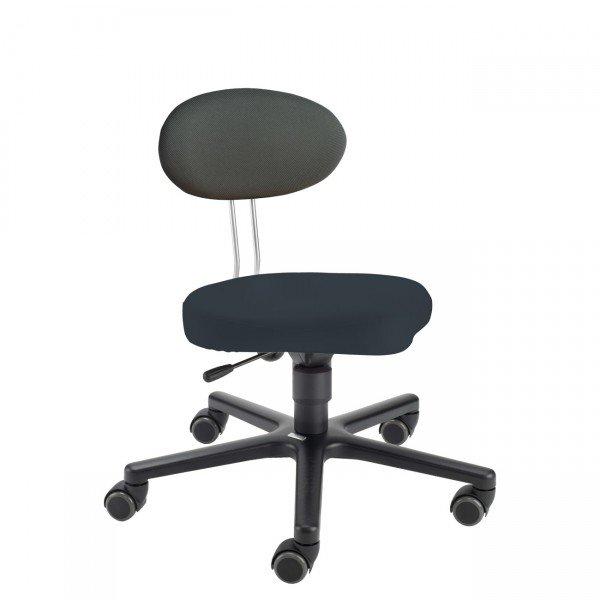 LeitnerTwist Kinderstuhl/ Erzieherinnenstuhl Kiga schwarz mit Sattelsitz