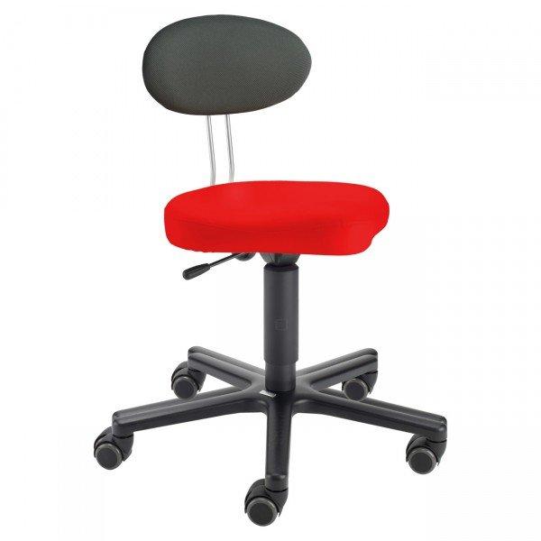 LeitnerTwist Bürodrehstuhl Kiga rot für besonders große Jugendliche und Erwachsene