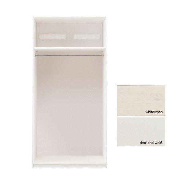 Lifetime Grundelement 100 cm breit, kann mit Türen und Griffen versehen werden.