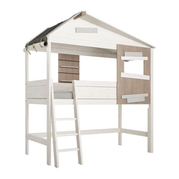 Achtung, laut Preisliste gibt es dieses Bett nur mit gerader Leiter. Wir fragen nach!
