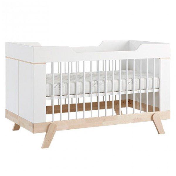 Bild zeigt vorherige Version Babybett mit Metallsprossen.