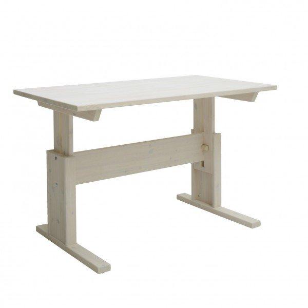 Lifetime höhenverstellbarer Schreibtisch in whitewash ohne Schublade