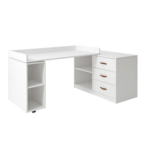 Regalmodul 30262 mit drehbarer Tischplatte, deckend weiß