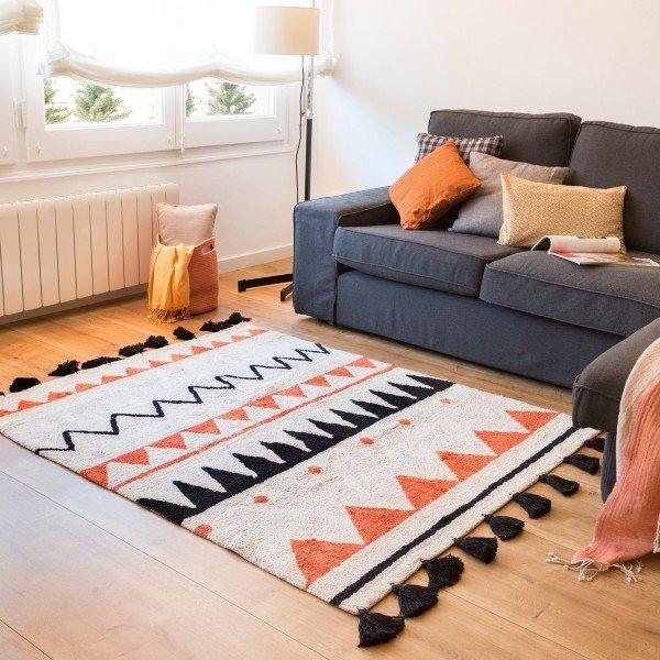 Lorena Canals Teppich aus Baumwolle im Aztekenlook