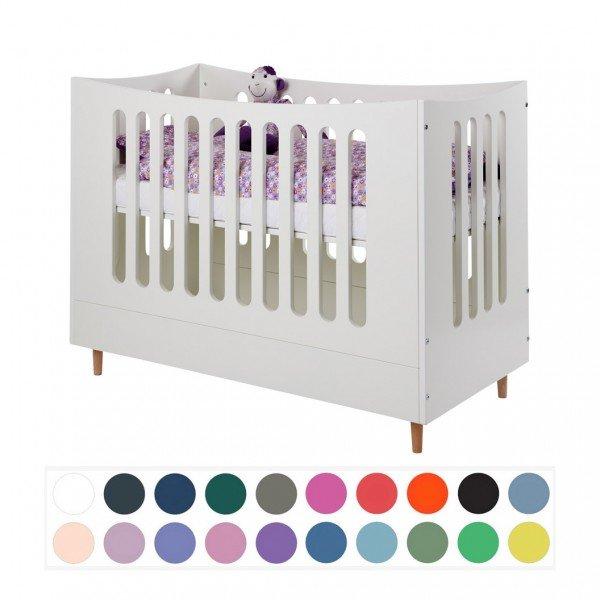 Manis-h Kinderbett in 60 x 120 mit offenem Giebel - wählbar in vielen Farben