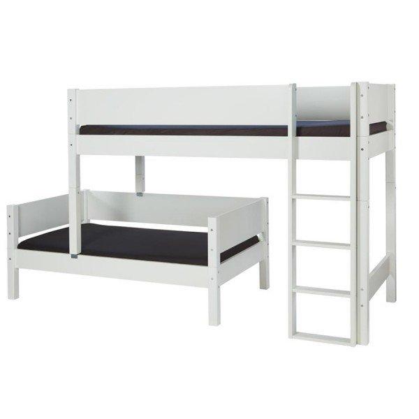 Das Glen Bett kann in zwei Arten aufgebaut werden. Die Betten in gleicher Richtung aber untereinander verschoben...