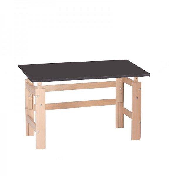 Schreibtisch anthrazit/Buche (B 115 cm)