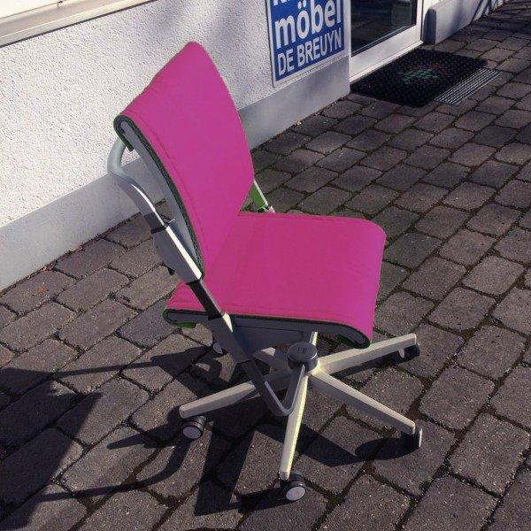 Scooter Drehstuhl, Gestell grau / Bezug pink