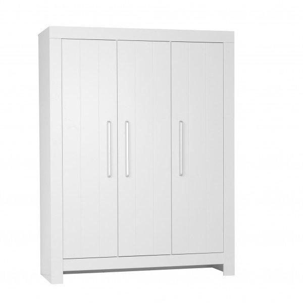 Nature Kid Almo Kleiderschrank mit 3 Türen in weiß