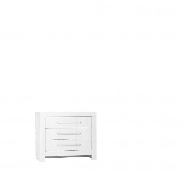 Nature Kid Almo Kommode klein mit 3 Schubladen in weiß