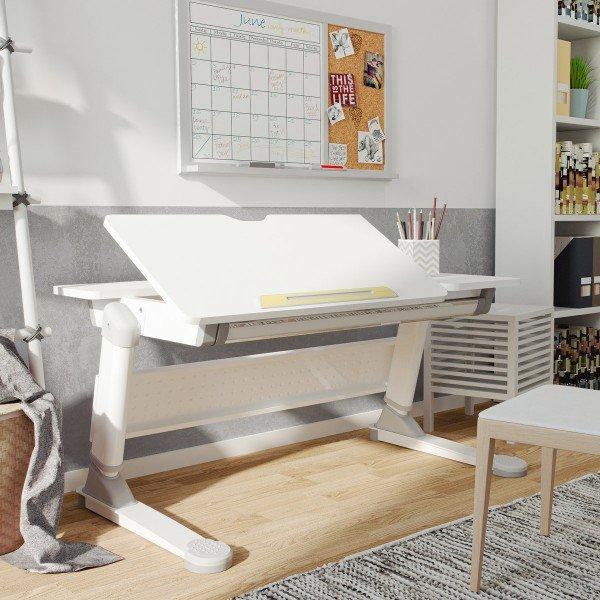 Schreibtisch Luna mit geteilter Tischplatte