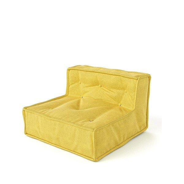 Sitzmodul Mitte in gelb