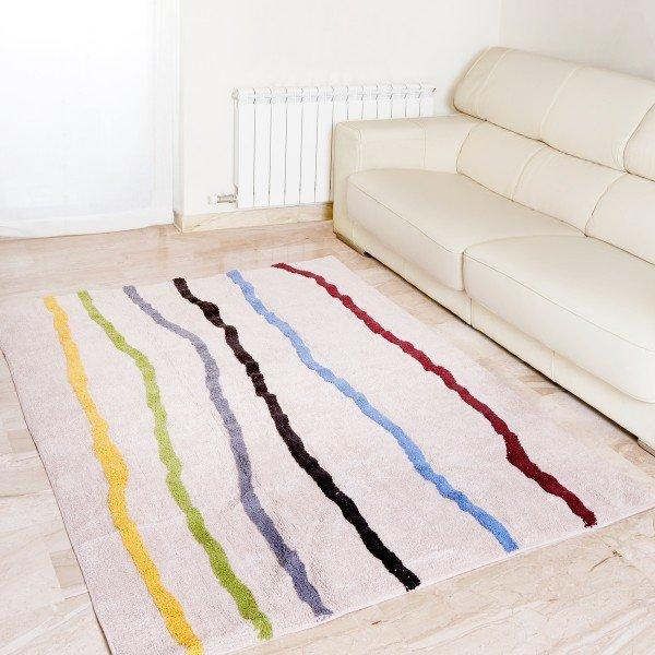Teppich Lineas 140 x 200 cm (bunte Linien)