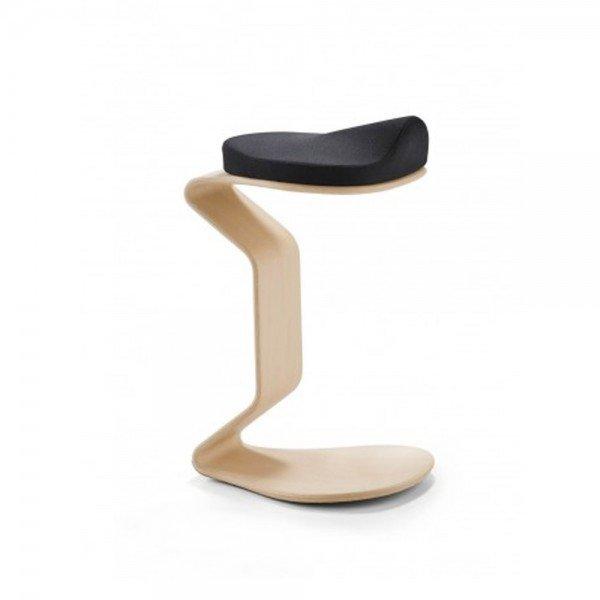 Hocker Ercolino big, H 56cm, Beispiel in Buche mit 3D Sitzpolster