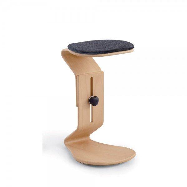 Hocker Ercolino ready aus Buche mit flachem Sitzpolster