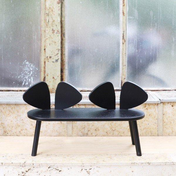 Kindersitzbank Mouse Bench in Black (2 - 5 Jahre)
