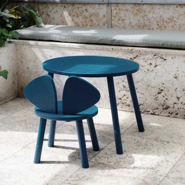 Kindertisch Mouse Table in Petroleum (2 - 5 Jahre)