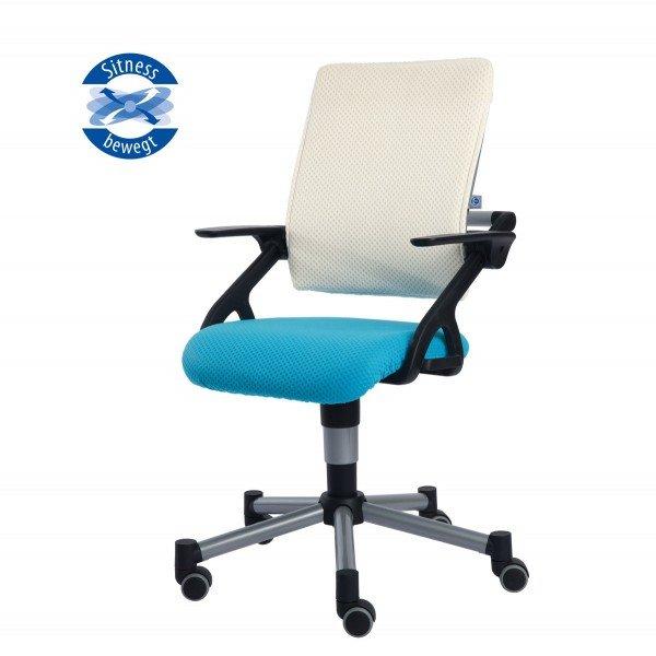 Drehstuhl Tio Sitness® azurblau/weiß