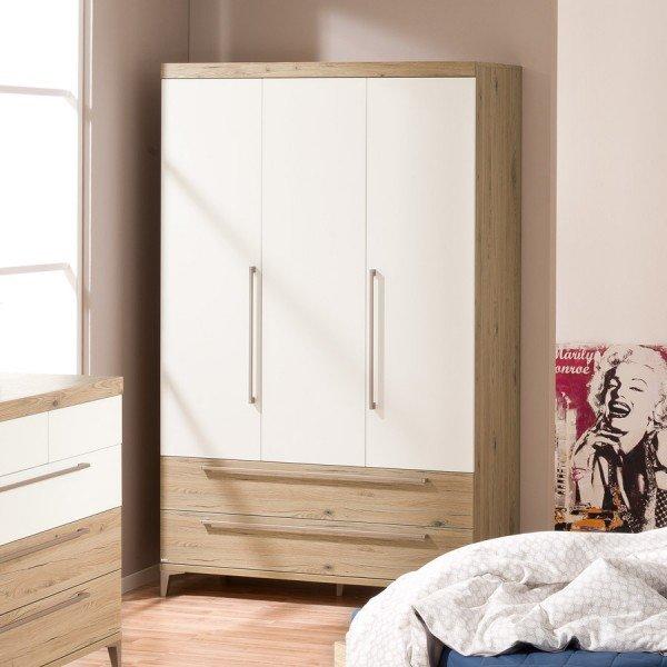 Paidi Remo Kleiderschrank mit 3 Türen und 2 Schubladen