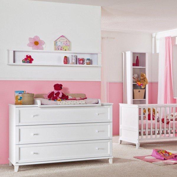 Kinderbett Sophia mit breiter Wickelkommode zum Supersparpreis
