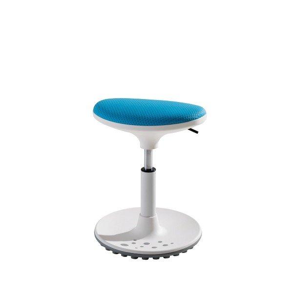 Paidi Sitzhocker Speedy in weiß mit Bezug in azurblau