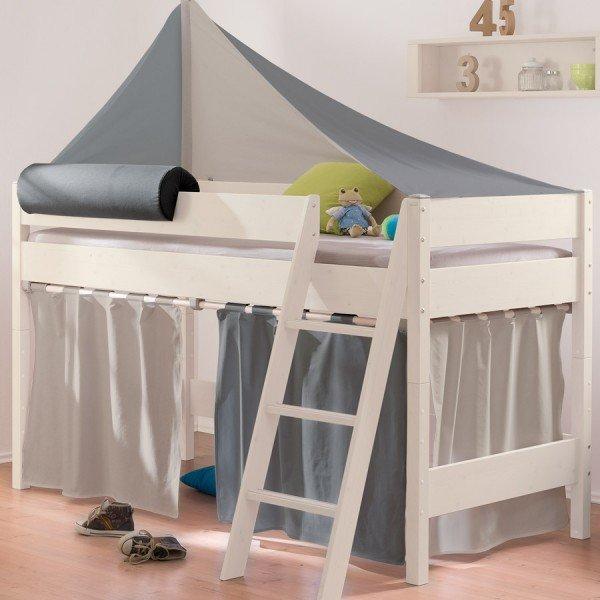 Vorhang-Set in Taupe / Anthrazit (Beispiel am 125er Bett)