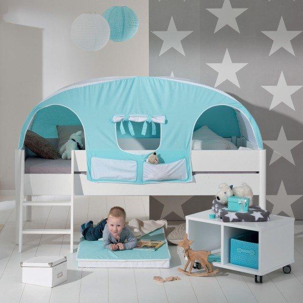 Paidi Ylvie Mini-Spielbett: Beispiel in ganz weiß. Sie können die Beine auch in Birke natur bestellen!