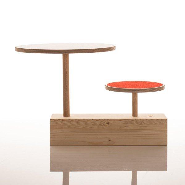 Kleinkinder Sitzkombination Claus aus Tisch und Rundhocker