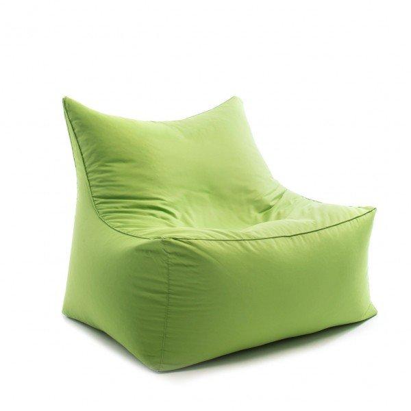 Sitzsack-Sessel cubic love seat in grün