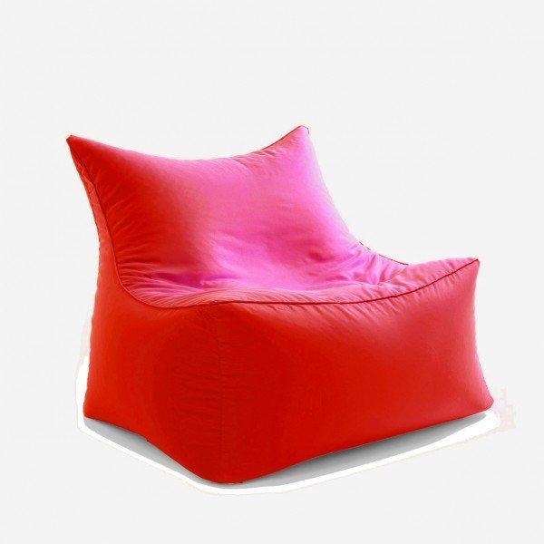 Sitzsack-Sessel cubic love seat in rot