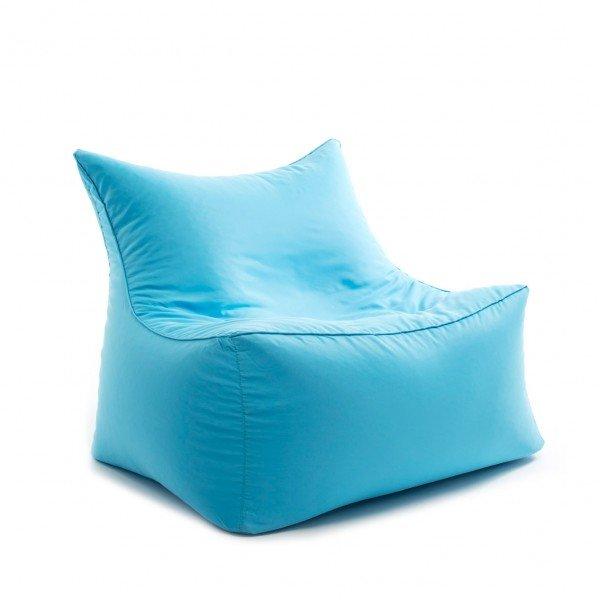 Sitzsack-Sessel cubic love seat in türkis