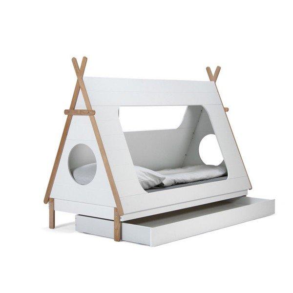 Die optionale Schublade kann auch kurzzeitig als Gästebett dienen.