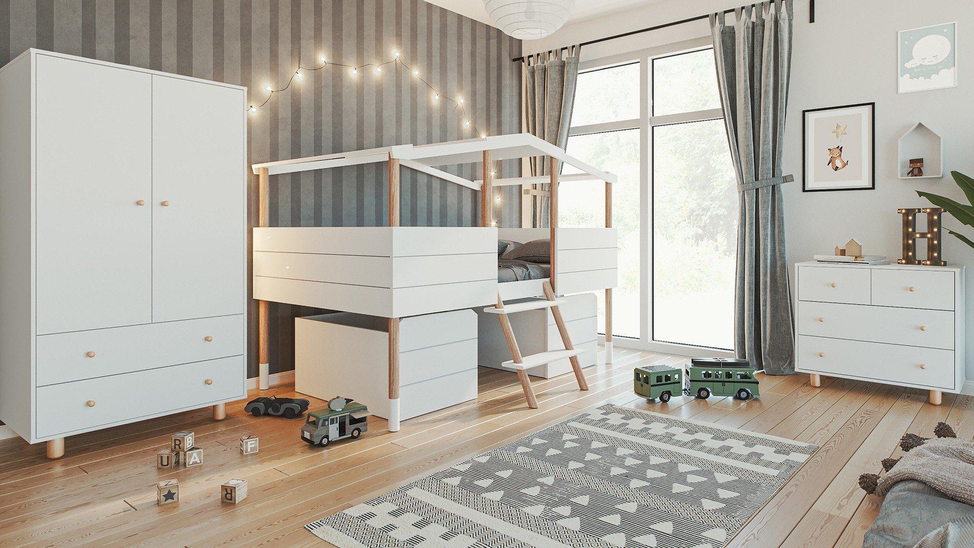 Kinderzimmer Set 21 teilig Noah / Lina weiß