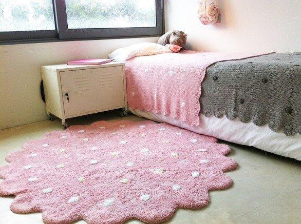 Rosa teppich rund  Teppich Galletita rund rosa im Wallenfels Onlineshop