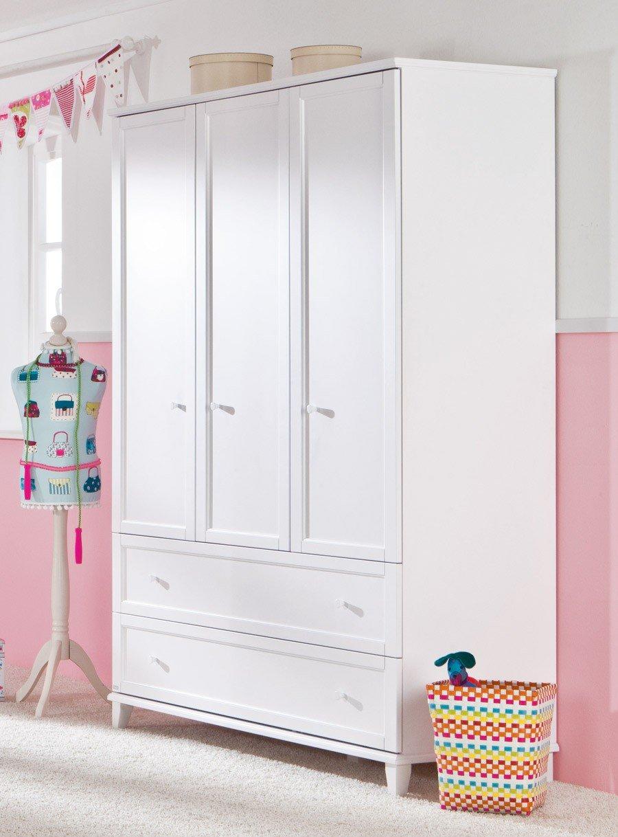 paidi sophia kleiderschrank 3 t rig mit 2 breiten. Black Bedroom Furniture Sets. Home Design Ideas