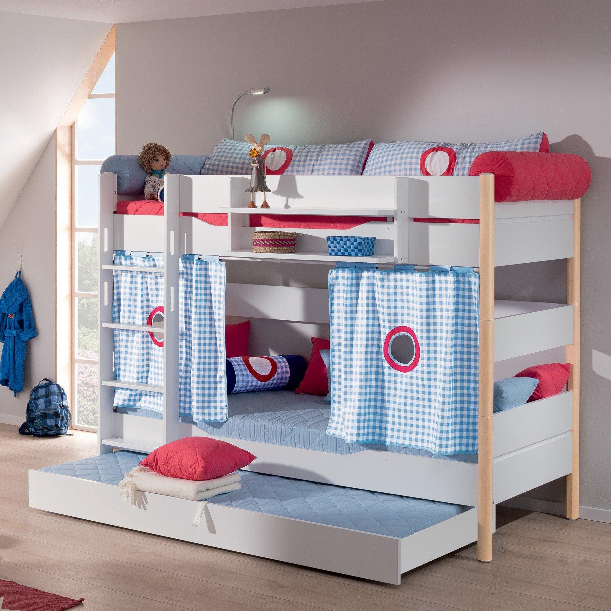 paidi ylvie etagenbett mit 160 cm höhe in kreideweiß/birke im, Hause deko