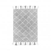 Teppich Karo grau 120 x 160 cm
