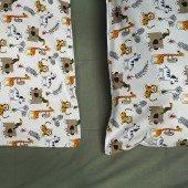 Kinderbettwäsche - Kanaki Ecru (bedruckt, 40/60 und 100/135 cm)