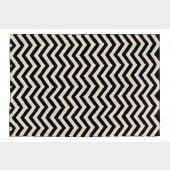 Black & White Zig-Zag Teppich in schwarz-weiß