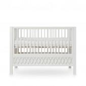 Babybett Harlequin in weiß (60 x 120cm)