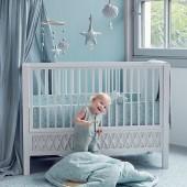 Babybett Harlequin in grau (60 x 120cm)