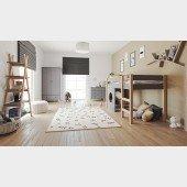 Kinderzimmer Set 5-teilig mit Spielbett Finn / Tipi grau